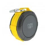 Outdoor Proof Wireless Speaker Bluetooth Maxton Telica MX51 3W IP5 Yellow with Speakerphone, Audio-in, MicroSD