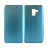 Book Case Ancus Magnetic Curve TPU for Samsung SM-A530F Galaxy A8 (2018) TPU Blue