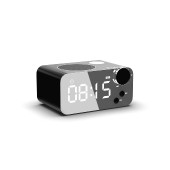 Wireless Portable Speaker Musky DY39 with Alarm Clock, FM Radio, Speakerphone and USB, AUX, Memory Card Slot
