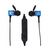 Bluetooth Hands Free Komc B601 Magnetic Earbuds with Flat Cable Black - Silver