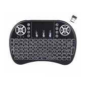 Wireless Keyboard and Remote Keywin Mini Rii i8+ for Smartphone, Tablet, PC, και SmartTV Black
