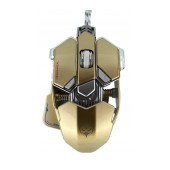 Wired Mechanical Gaming Mouse Luom G10 Led with 10 Buttons and 4000 DPI Gold