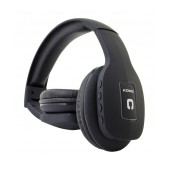 Bluetooth Headphones Stereo Foldable Komc T11 Black with Mic and Audio In