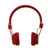 Bluetooth Headphone Stereo NIA Foldable NIA-X3 Multi Pairing Red with, Microphone, FM Radio and MP3 Player with Micro SD
