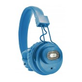 Bluetooth Headphone Stereo NIA Foldable NIA-X5SP Blue with, External Speaker, Microphone, FM Radio, Audio In and MP3 Player with Micro SD