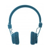 Bluetooth Headphone Stereo NIA Foldable NIA-X3 Multi Pairing Blue with, Microphone, FM Radio and MP3 Player with Micro SD