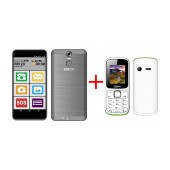 Maxcom MS553 FS (Dual Sim) LTE  Black + Maxcom MM129 (Dual Sim)