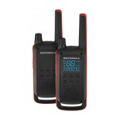 Walkie Talkie Motorola Go Adventure PMR T82 Black with Led Torch and Hands Free Connector. Coverage 10 km