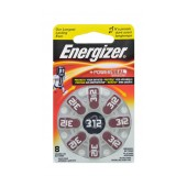 Hearing Aid Batteries Energizer Zinc Air 312 1.4V Pcs. 8