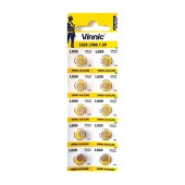 Buttoncell Vinnic L626F AG4 LR66 Pcs. 10 with Perferated Packaging
