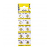 Buttoncell Vinnic L621F AG1 LR60 Pcs. 10 with Perferated Packaging