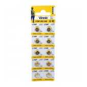 Buttoncell Vinnic L736F AG3 LR41 Pcs. 10 with Perferated Packaging