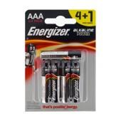 Battery Alkaline Energizer LR03 size AAA 1.5V Pcs. 4+1