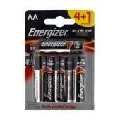 Battery Alkaline Energizer LR03 size AA 1.5V Pcs. 4+1