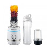 Blender N'OVEEN Sport Mix & Fit SB-1100 X-Line with Two 600 ml Bottles 300W 3 Level Operation Mode and LED Indicator. White