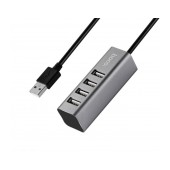 USB 2.0 Hoco HB1 4 Port Tarnish Gray