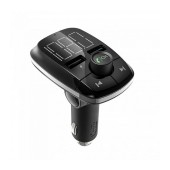 Bluetooth FM Transmitter Τ50 with LCD Display, Speakerphone, SD Card slot and Two USB Ports. Bluetooth: 4.2 Black