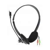 Headset Stereo KOMC KM-800 with Microphone and Double Connector 3.5 mm Black