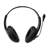 Headphone Stereo KOMC Mobile Series S66 3.5 mm Black with Microphone for Mobile Phones, Tablet and Electronic Devices