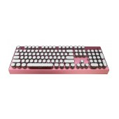 Mechanical Wired Keyboard Keywin Retro with White External Keys. Red
