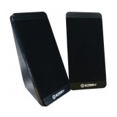 Multimedia Speaker Stereo Ezeey S5 with 3.5mm jack and USB Charge, 2.5W x 2, 4Ω 3W, Black