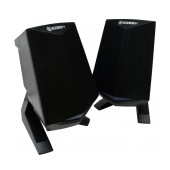 Multimedia Speaker Stereo Ezeey Black Samurai A4 with 3.5mm jack and USB Charge 3W x 2, Black