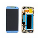 Original LCD & Digitizer Samsung SM-G935F Galaxy S7 Edge Blue with Frame and Charging Connector GH97-18533G; GH97-18767G