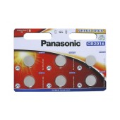 Buttoncell Panasonic CR2016 3V Pcs. 6 with Perforated Packaging