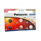 Buttoncell Panasonic CR2025 3V Pcs. 6 with Perforated Packaging