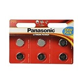 Buttoncell Panasonic CR2032 3V Pcs. 6 with Perforated Packaging
