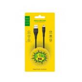 Data Cable Hoco U38 Flash USB to Micro-USB Fast Charging 4.0A Black 1.2m.