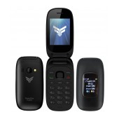 FlameFox Flip3 (Dual Sim) with 2 Screens (1.77'' & 1.44''), Bluetooth, Camera, FM Radio (Operates without Handsfree)