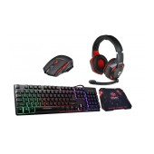 Gamer Pack with Keyboard, Mouse, Mousepad and Headset with Mic