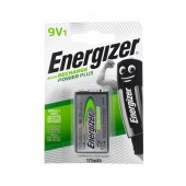 Rechargable Battery Energizer ACCU Recharge Power Plus HR22 size 9V 175mAh