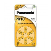 Hearing Aid Batteries Panasonic PR10 1.4V Τεμ. 6