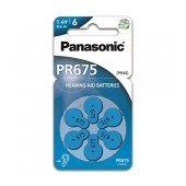 Hearing Aid Batteries Panasonic PR675 1.4V Τεμ. 6
