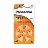 Hearing Aid Batteries Panasonic PR13 1.4V Τεμ. 6