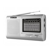 Portable FM Radio N'oveen PR651 2W Silver with 9 Radio Bands and Mains and Battery Supply