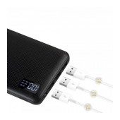 Power Bank Hoco B24 Pawker 30000 mAh with Micro-USB Input and 3 USB Output and Digital Indicator Black
