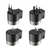 Travel Charger Hoco AC4 Universal Converter US EU AU UK with Dual USB Port Black