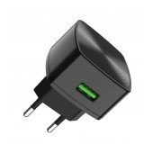 Travel Charger Hoco C70A Cutting-Edge Single USB QC 3.0 18W Black