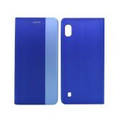 Book Case Ancus Magnetic Canvas for Samsung SM-A105F Galaxy A10 TPU Blue