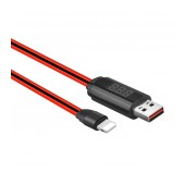 Data Cable Hoco U29 LED Display USB to Lightning 2A Fast Charging Red 1m