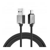 Data Cord Cable Hoco U49 Refined Steel USB to Micro-USB with Enhanced Plug-in 1.2 m. Black