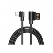 Data Cable Hoco U37 Long Roam USB to Type-C 2.4A Black 1.2m.
