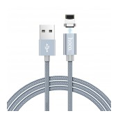 Data Cable Hoco U40A Magnetic USB to Lightning Metal Gray 1m