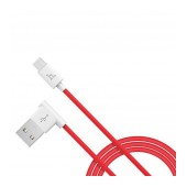 Data Cable Hoco UPM10 L Shape USB to Micro-USB Fast Charging Red 1.2 m.