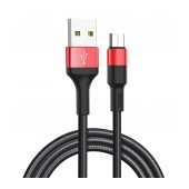 Data Cable Hoco X26 Xpress USB to Micro-USB Fast Charging Black - Red 1m