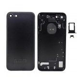 Back Cover Apple iPhone 7 Black with Camera Lens, SIM Tray and External Keys OEM Type A