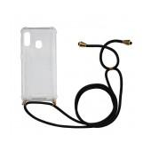 Case Ancus Crossbody for Samsung SM-A202F Galaxy A20e Transparent with Back Strap